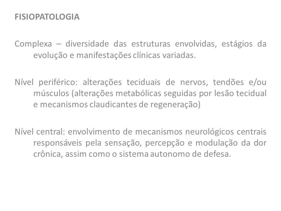 FISIOPATOLOGIA Complexa – diversidade das estruturas envolvidas, estágios da evolução e manifestações clínicas variadas.