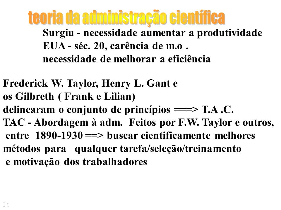 teoria da administração científica