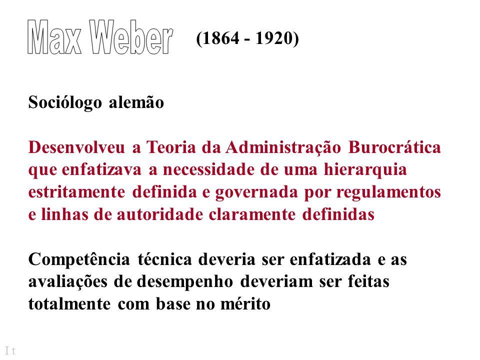 Max Weber (1864 - 1920) Sociólogo alemão