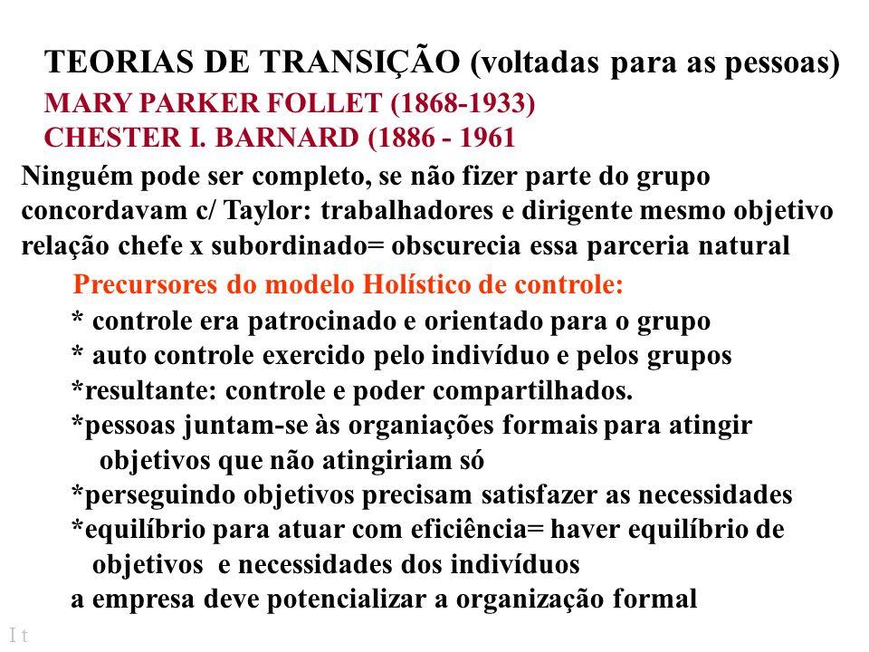 TEORIAS DE TRANSIÇÃO (voltadas para as pessoas)
