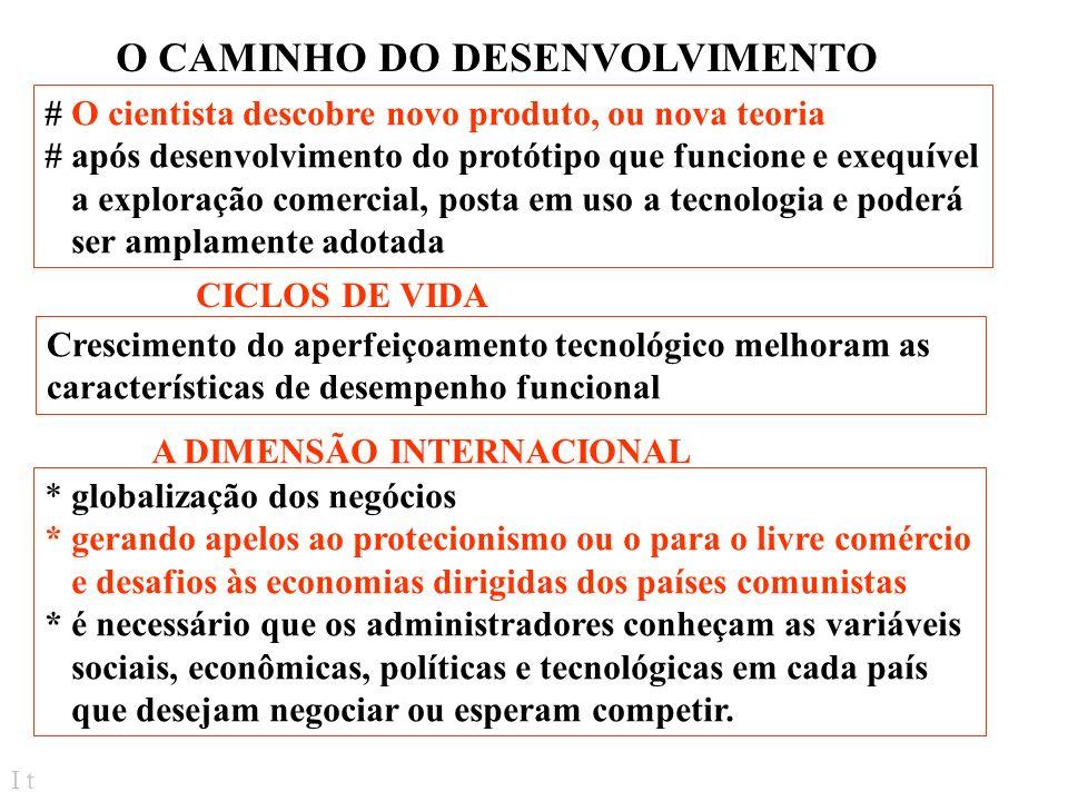 O CAMINHO DO DESENVOLVIMENTO