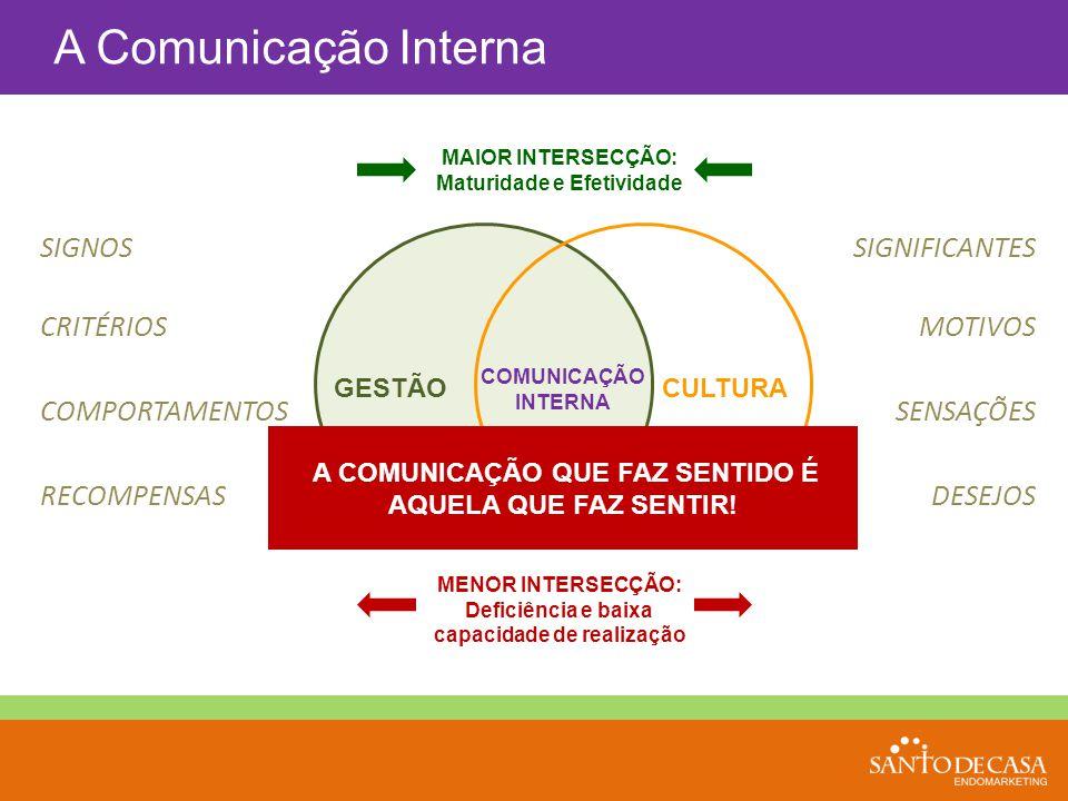 A Comunicação Interna SIGNOS SIGNIFICANTES CRITÉRIOS MOTIVOS