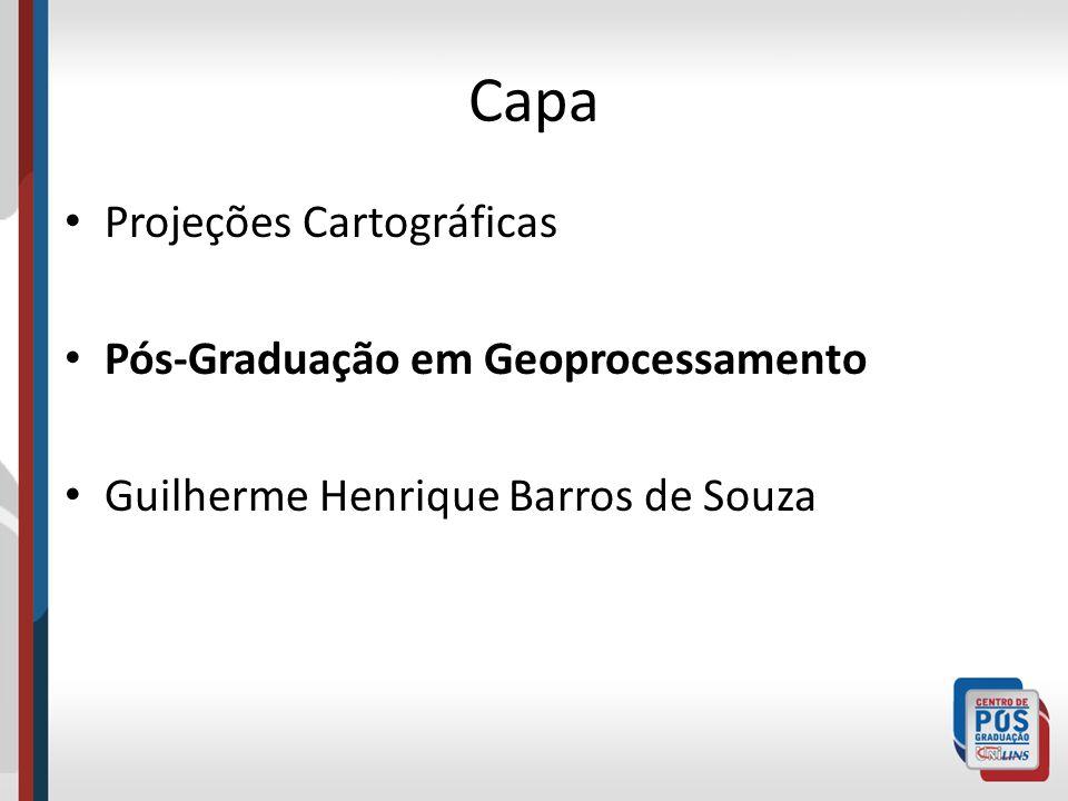 Capa Projeções Cartográficas Pós-Graduação em Geoprocessamento