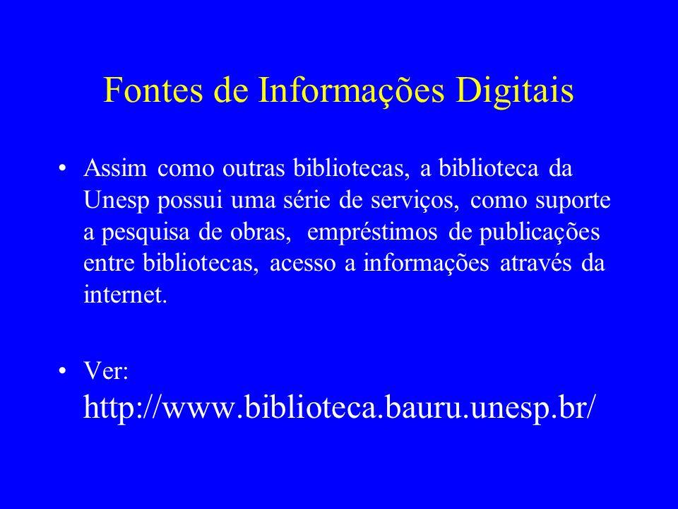 Fontes de Informações Digitais