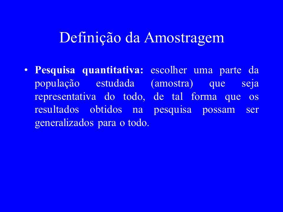 Definição da Amostragem