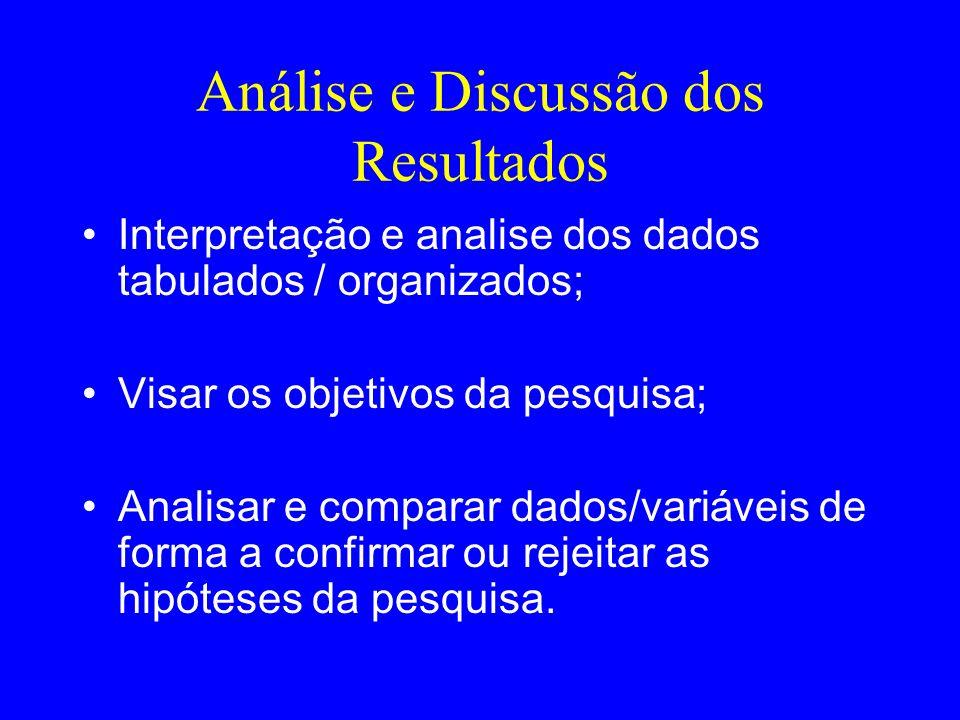 Análise e Discussão dos Resultados