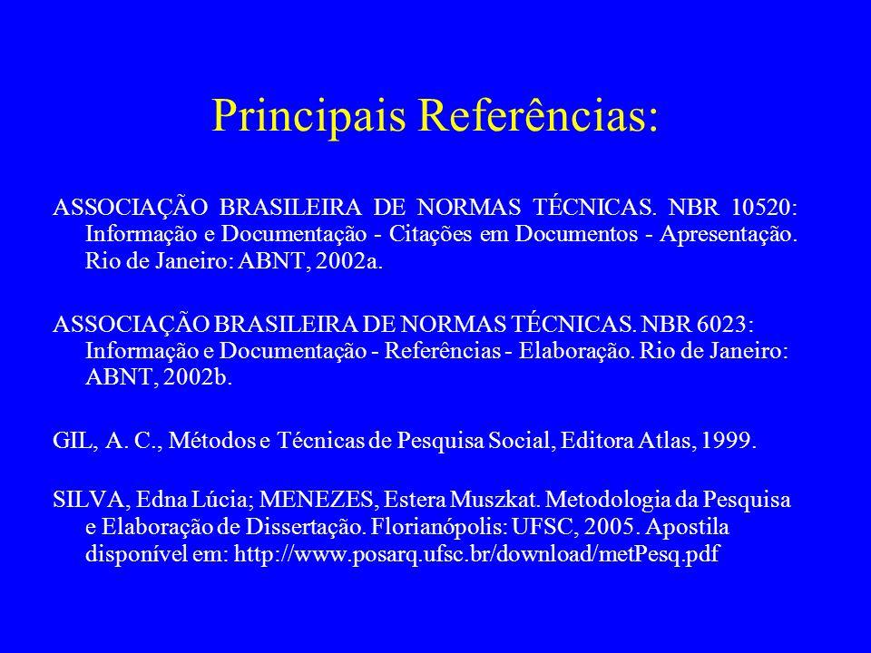 Principais Referências: