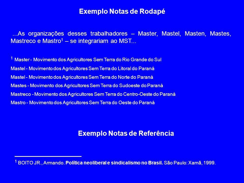 Exemplo Notas de Rodapé