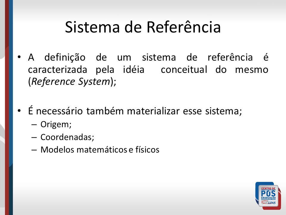 Sistema de Referência A definição de um sistema de referência é caracterizada pela idéia conceitual do mesmo (Reference System);