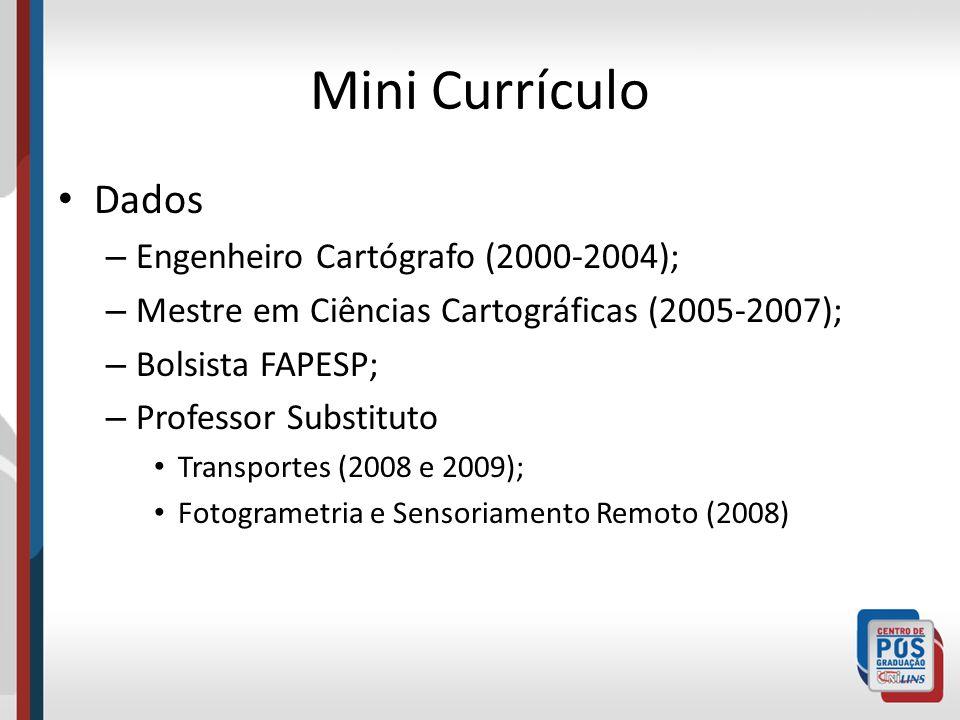 Mini Currículo Dados Engenheiro Cartógrafo (2000-2004);