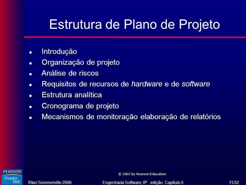 Estrutura de Plano de Projeto