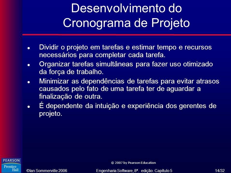 Desenvolvimento do Cronograma de Projeto