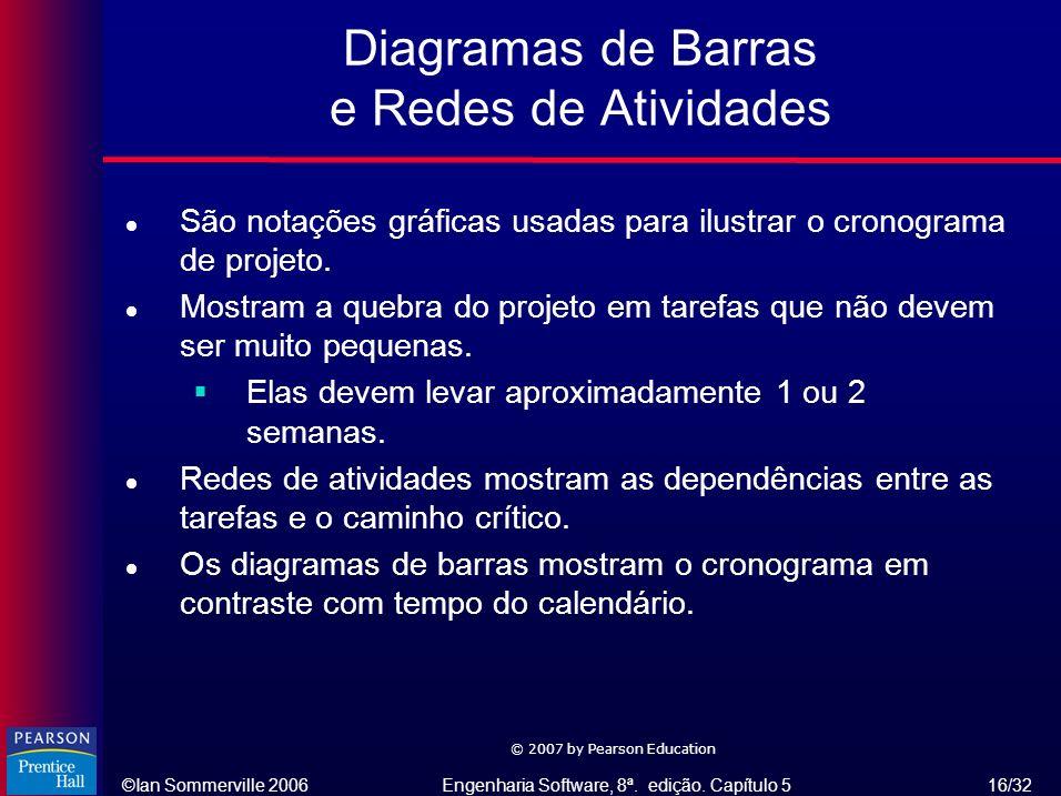 Diagramas de Barras e Redes de Atividades