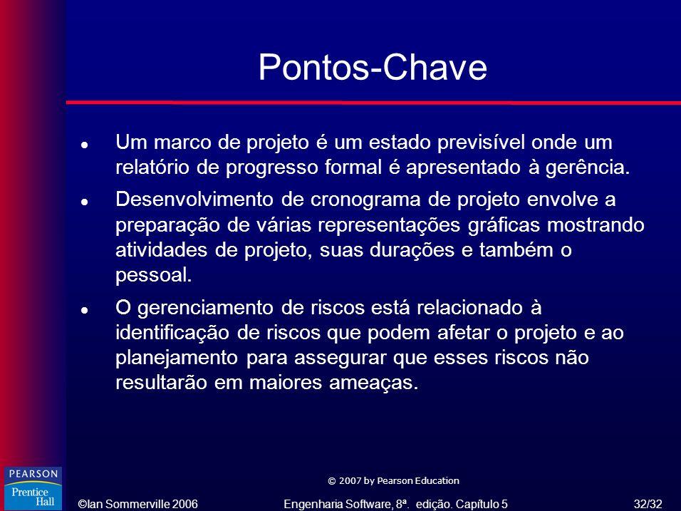 Pontos-Chave Um marco de projeto é um estado previsível onde um relatório de progresso formal é apresentado à gerência.