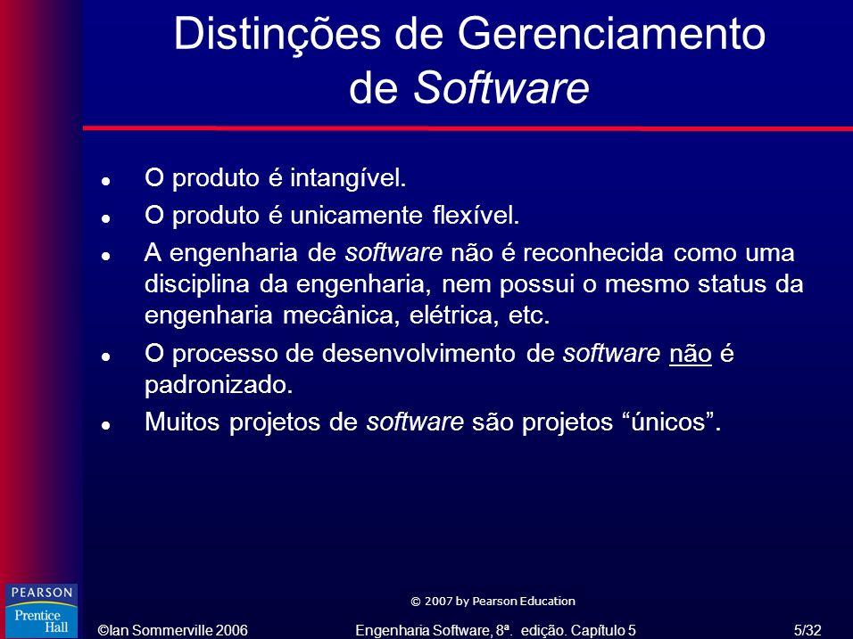 Distinções de Gerenciamento de Software