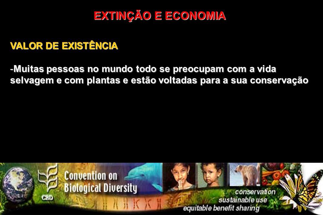 EXTINÇÃO E ECONOMIA VALOR DE EXISTÊNCIA