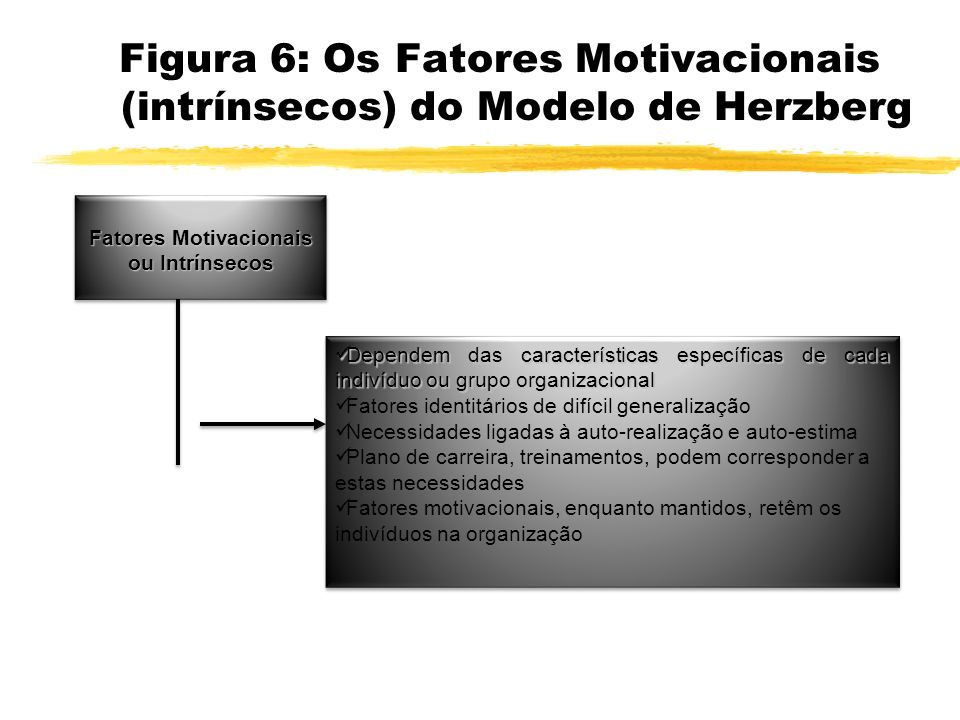 Fatores Motivacionais ou Intrínsecos