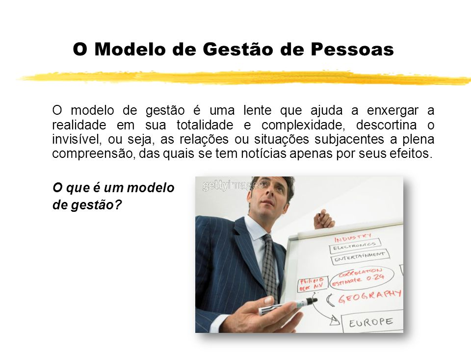 O Modelo de Gestão de Pessoas