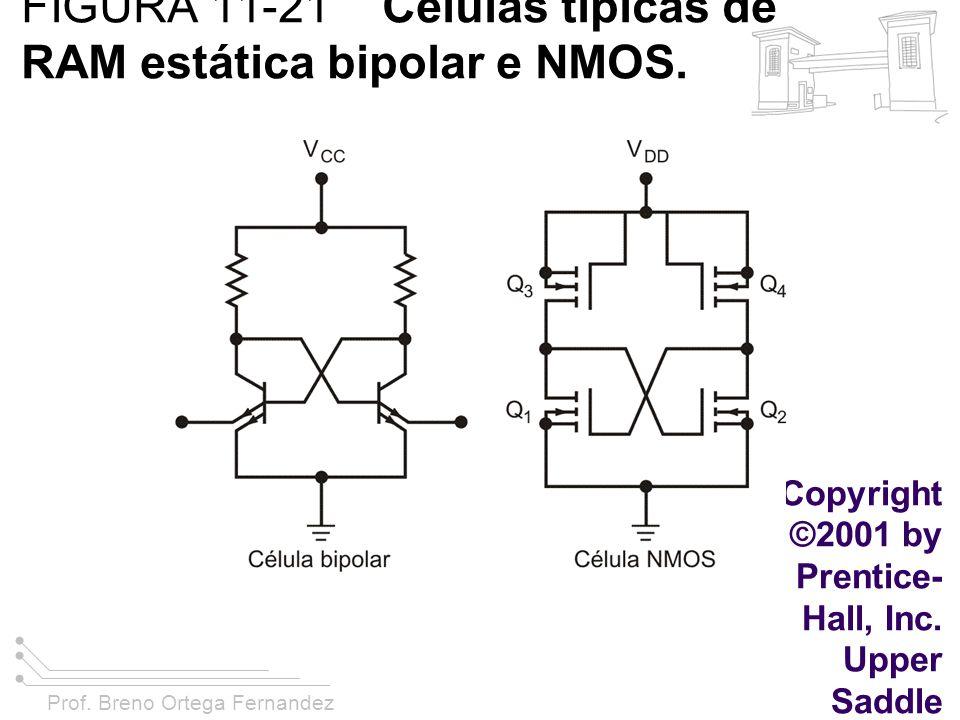 FIGURA 11-21 Células típicas de RAM estática bipolar e NMOS.