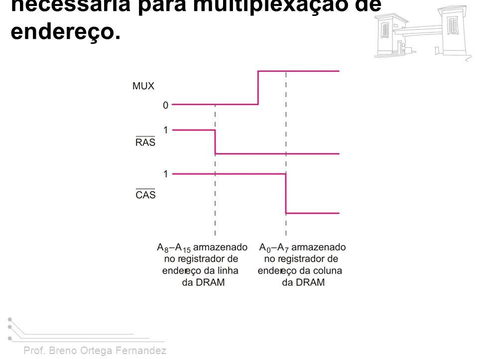 FIGURA 11-29 Temporização necessária para multiplexação de endereço.