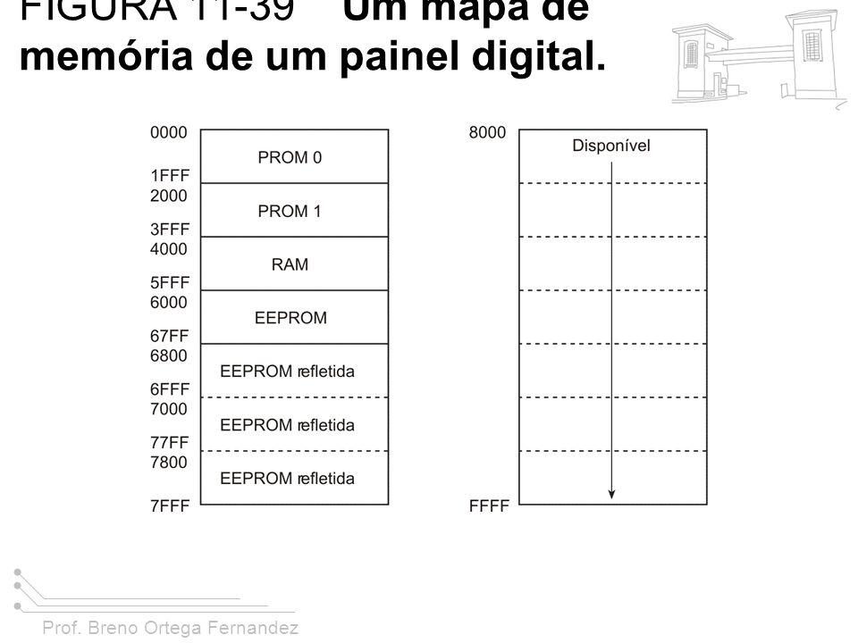 FIGURA 11-39 Um mapa de memória de um painel digital.