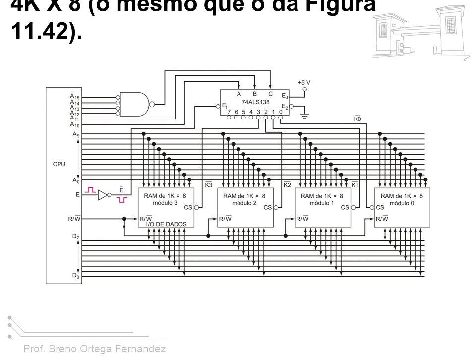 FIGURA 11-44 Sistema de RAM de 4K X 8 (o mesmo que o da Figura 11.42).