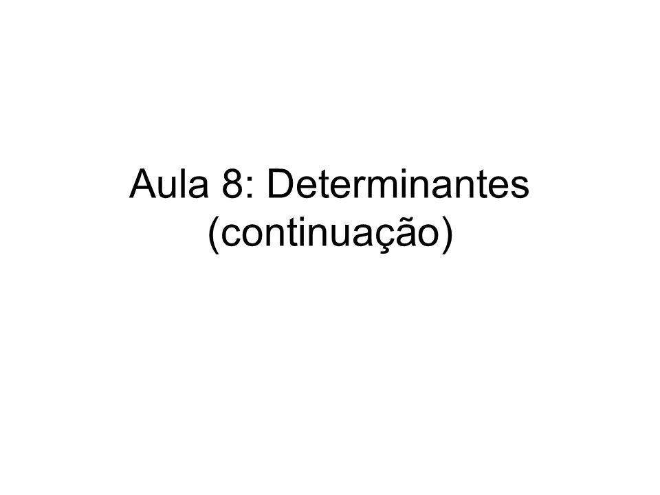 Aula 8: Determinantes (continuação)