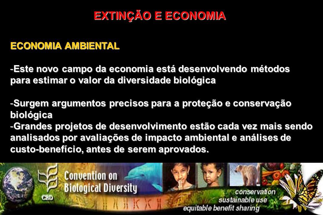 EXTINÇÃO E ECONOMIA ECONOMIA AMBIENTAL