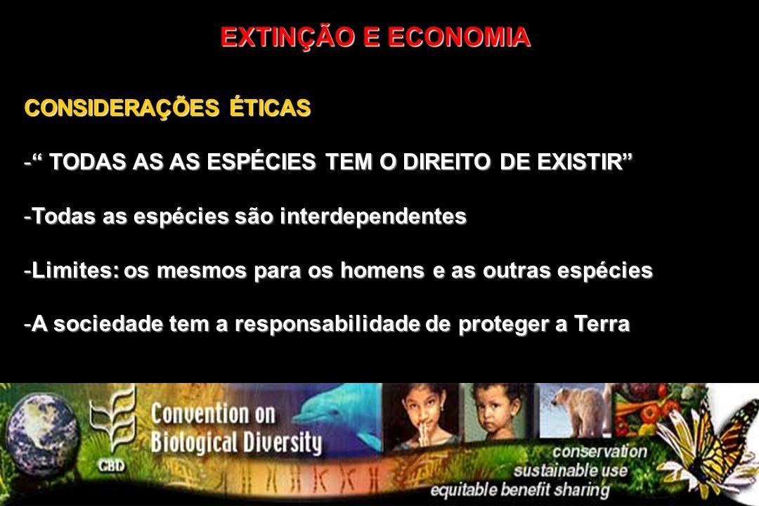 EXTINÇÃO E ECONOMIA CONSIDERAÇÕES ÉTICAS