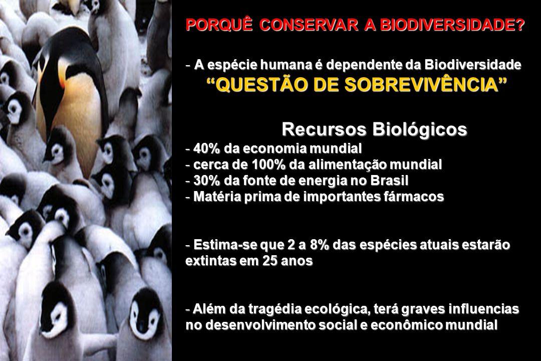 QUESTÃO DE SOBREVIVÊNCIA Recursos Biológicos