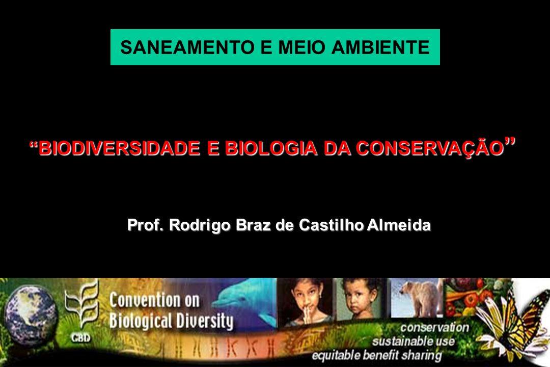 SANEAMENTO E MEIO AMBIENTE BIODIVERSIDADE E BIOLOGIA DA CONSERVAÇÃO