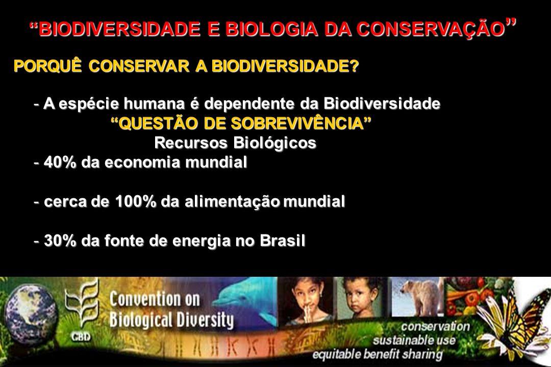 BIODIVERSIDADE E BIOLOGIA DA CONSERVAÇÃO