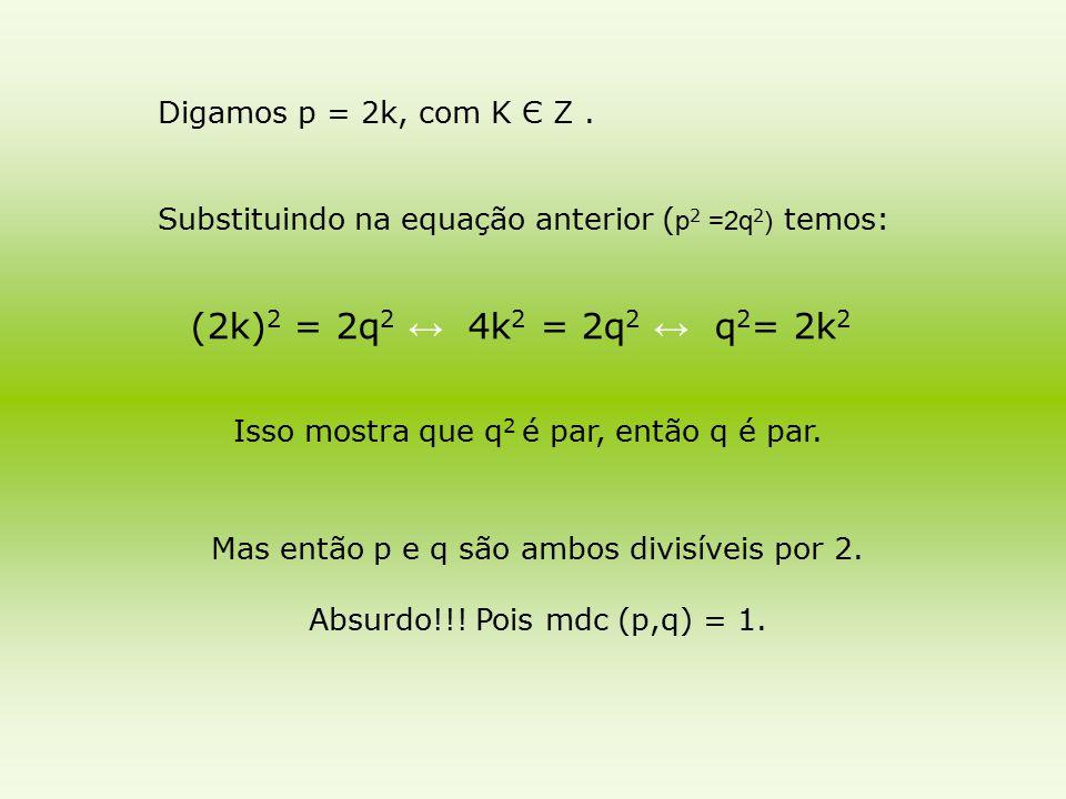 Mas então p e q são ambos divisíveis por 2.