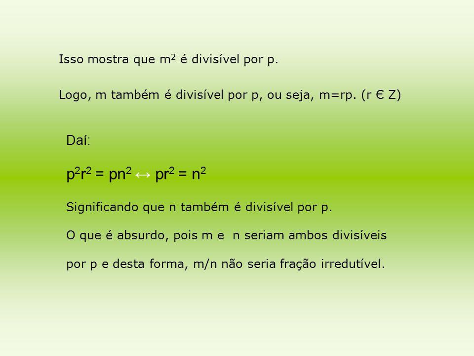 Isso mostra que m2 é divisível por p.