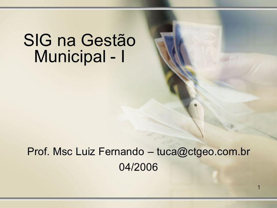 SIG na Gestão Municipal - I