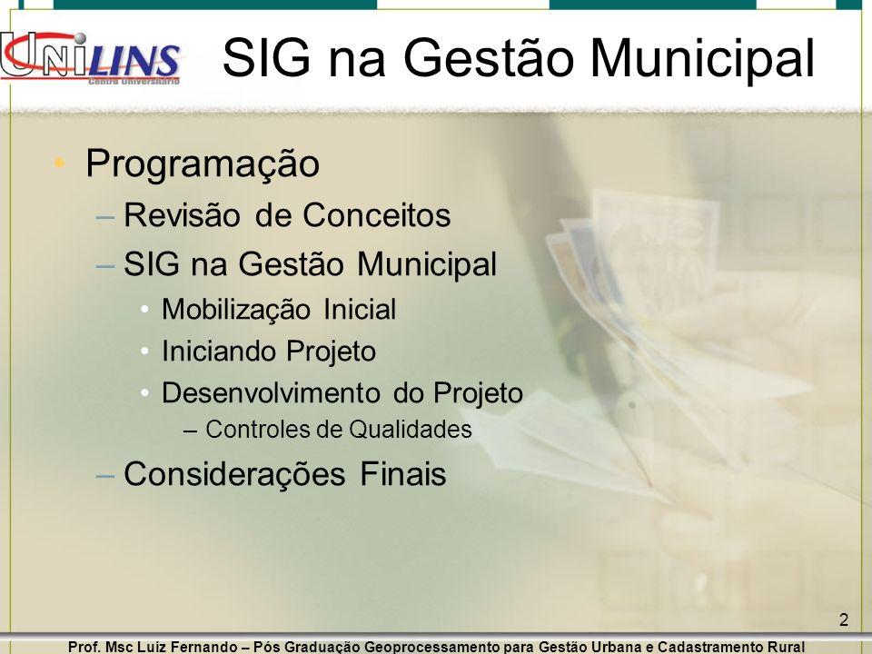 SIG na Gestão Municipal