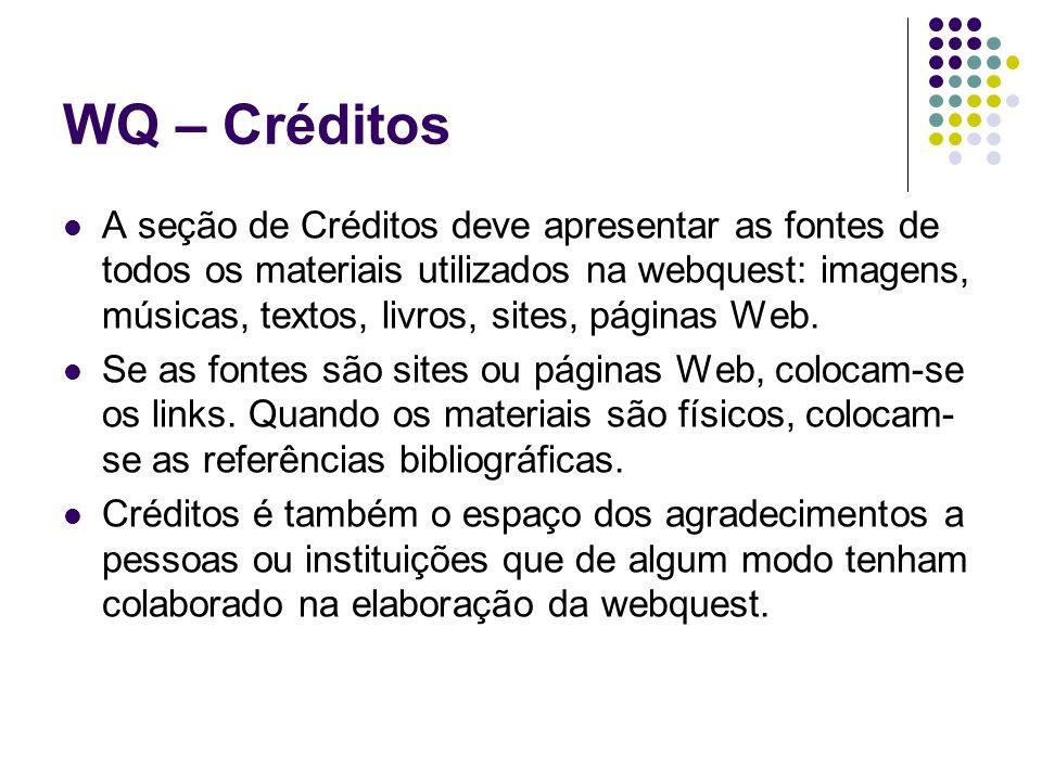 WQ – Créditos