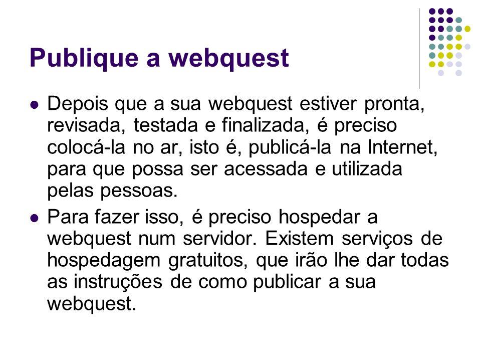 Publique a webquest