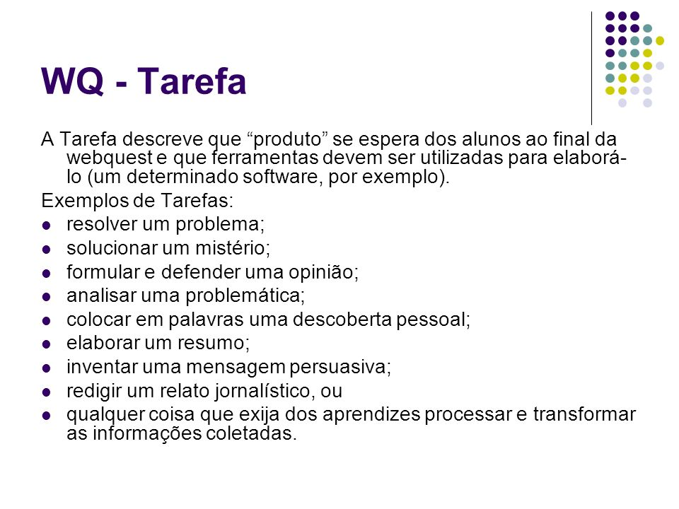 WQ - Tarefa