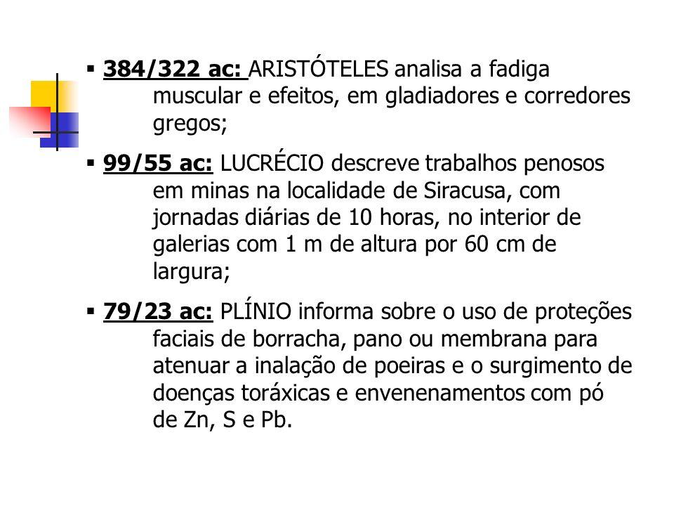 384/322 ac: ARISTÓTELES analisa a fadiga