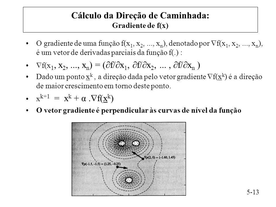 Cálculo da Direção de Caminhada: Gradiente de f(x)