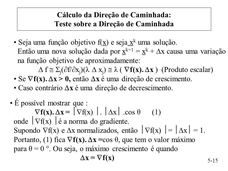 Cálculo da Direção de Caminhada: Teste sobre a Direção de Caminhada