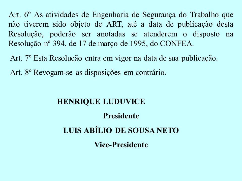 LUIS ABÍLIO DE SOUSA NETO