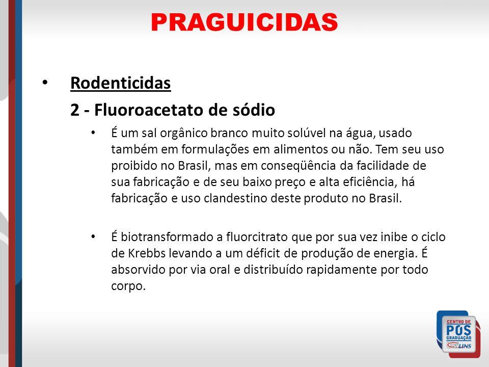 PRAGUICIDAS Rodenticidas 2 - Fluoroacetato de sódio
