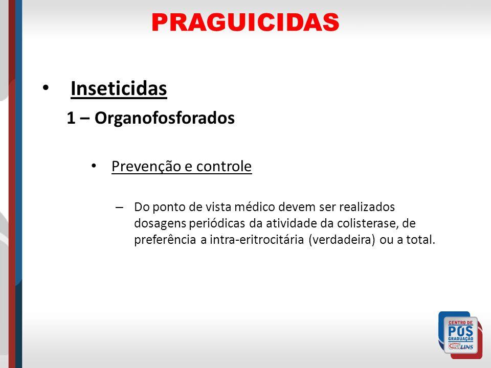 PRAGUICIDAS Inseticidas 1 – Organofosforados Prevenção e controle