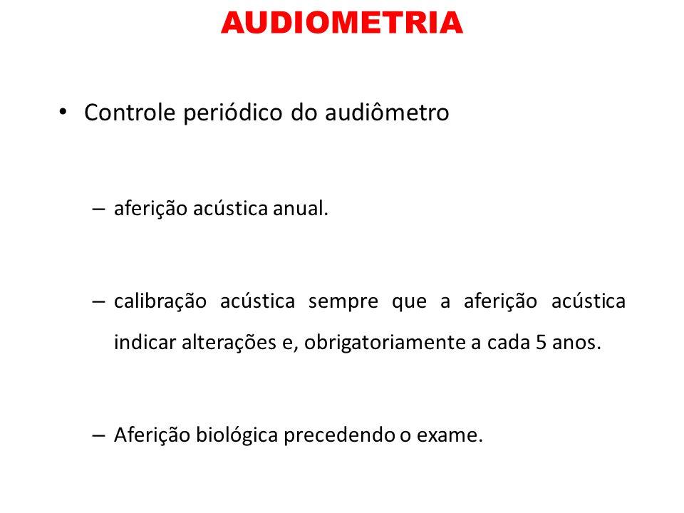 AUDIOMETRIA Controle periódico do audiômetro aferição acústica anual.