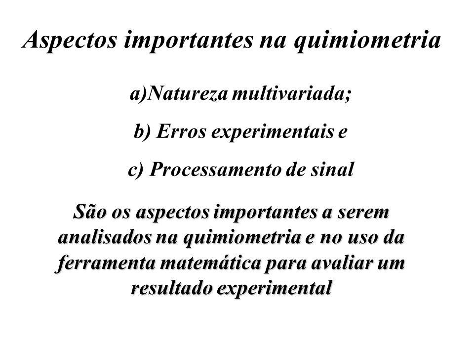 Aspectos importantes na quimiometria