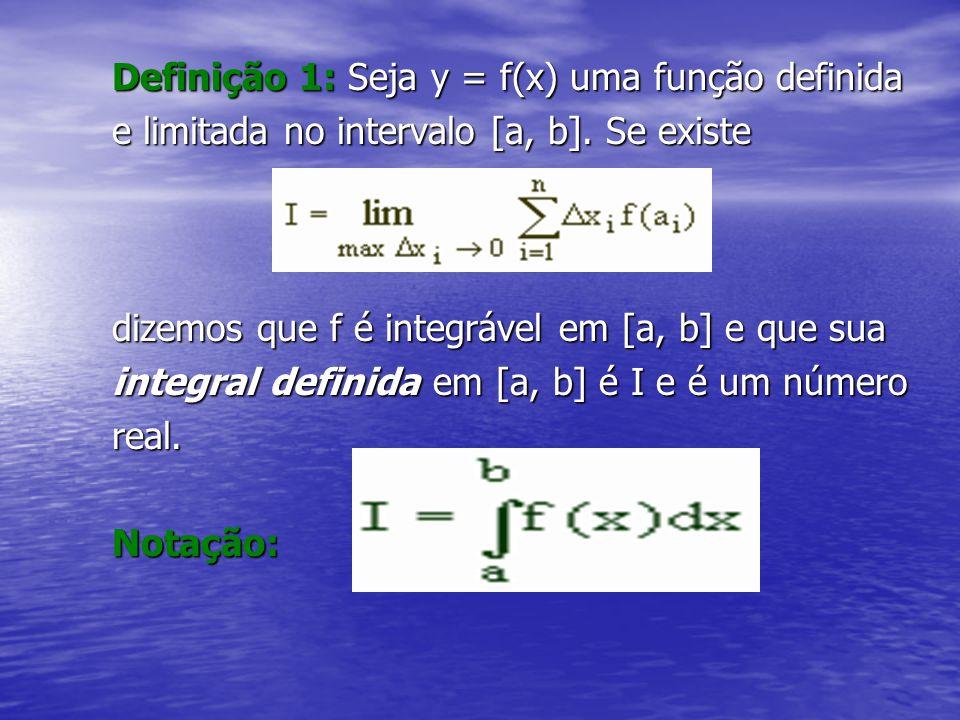 Definição 1: Seja y = f(x) uma função definida