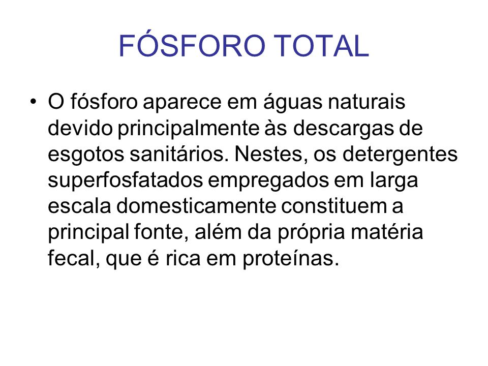 FÓSFORO TOTAL