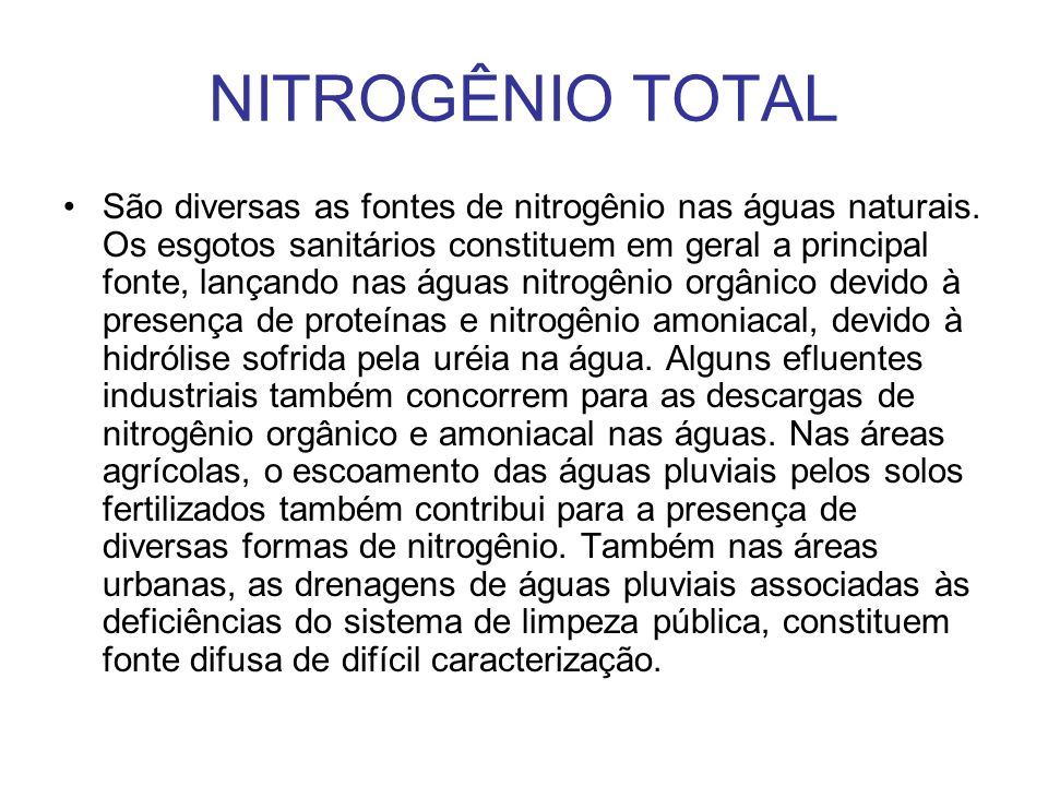 NITROGÊNIO TOTAL